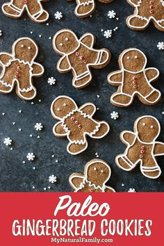 These Paleo gingerbread cookies look just like the real thing and are so fun to make for a special Paleo Christmas treat! These Paleo gingerbread cookies look just like the real thing and are so fun to make for a special Paleo Christmas treat! Paleo Cookie Recipe, Ginger Bread Cookies Recipe, Cookie Recipes, Paleo Cookies, Almond Cookies, Chocolate Cookies, Christmas Desserts, Christmas Treats, Christmas Cookies