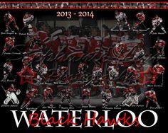 USHL Waterloo black hawks hockey poster.