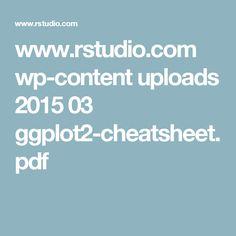 GGplot cheat sheet