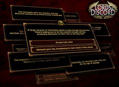 """You won't get bored - as random events pop up in the game from time to time! As a Lord, you will have to make difficult decisions over questions like """"the execution of the thieving governor"""" or """"the suppression of the rebels"""". But think carefully before you make your decision! After all, it will dictate whether you get a nice bonus, or have to sacrifice some of your treasure."""