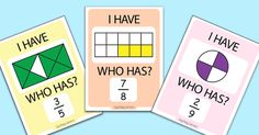 Fractions can be a tough subject for kids so we prepared this I Have Who Has Fractions game to make the whole learning process a bit more fun. Printable I have Who Has Fractions Game This set includes one I Have, Who Has Games; 33 game cards to print and cut fractions up to tenths writen with...Read More »
