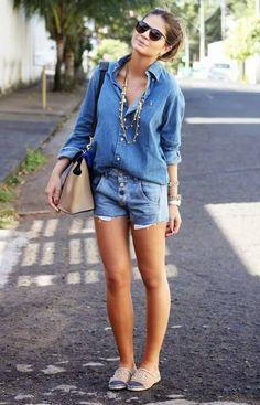 O jeans como sempre em alta, destaque para a alpargata da chanel #jeans #look #chanel