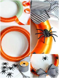 Easy Spooky Spider Halloween Wreath DIY