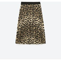 FINELY PLEATED PRINTED SKIRT - View all-SKIRTS-WOMAN | ZARA United... (€45) ❤ liked on Polyvore featuring skirts, white knee length skirt, white skirt, white pleated skirt, pleated skirt and knee length pleated skirt
