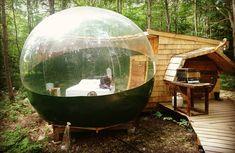 Tu peux dormir dans une « bulle » à 20 minutes de Rawdon, pour passer un nuit irréelle - Narcity Les Fjords, Long Week-end, Staycation, Outdoor Furniture, Outdoor Decor, Good To Know, Montreal, 20 Minutes, Aquarium