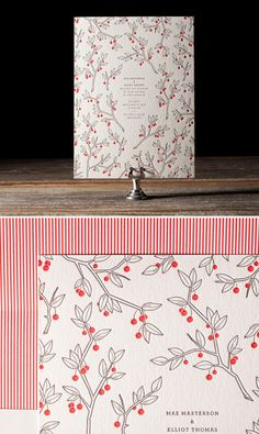 Another beautiful letterpress wedding invitation by Bella Figura.