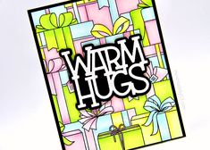 Warm Hugs card closeup