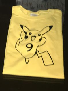 Custom Pokemon Pikachu Shirt  Any color  Any by sparklesbyjules - Pokémon Go shirt ! Personalize your number or name !