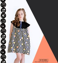 Capsules Lookbook by Art Gallery Fabrics. Dress made by Because of Brenna; PDF by Little Lizard King