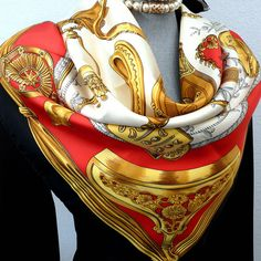 Authentic HERMES Etriers Silk Scarf