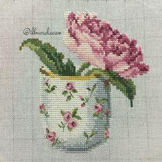 Cross stitch rose