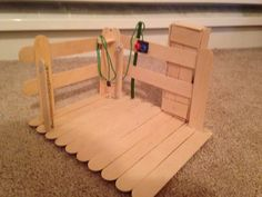 Farm Small World with Barn CraftFarm Small World with Barn Craft by Crayon Box ChroniclesSimple Wood Crafts for Your KidsBarn made from craft sticks-fun for kids to make and it would look great on the Popsicle Stick Crafts, Popsicle Sticks, Craft Stick Crafts, Diy And Crafts, Crafts For Kids, Barn Crafts, Horse Crafts, Wood Crafts, Resin Crafts