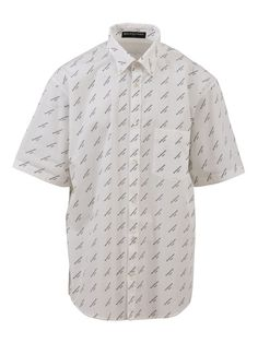 650c72d1cf4 Balenciaga Logo Print Short Sleeved Shirt
