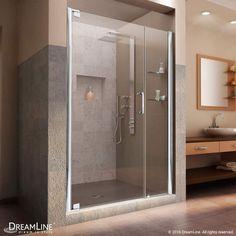 """Dreamline SHDR-4142720 Elegance 72"""" High x 44-1/2"""" Wide Pivot Frameless Shower D Chrome Showers Shower Doors Pivot"""