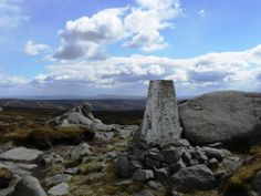 The trig point on Wolfhole Crag in the Forest of Bowland - this one is very remote.