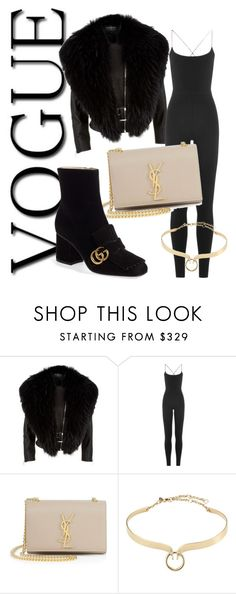 """#loveit#classic 👑❤"" by raniamarhraoui ❤ liked on Polyvore featuring Harrods, Valentino, Yves Saint Laurent, Alexis Bittar and Gucci"