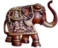 Heeran Art Animal Figurine of Elephant Idol Statue Showpiece  -  11 cm