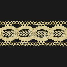 Entredós de encaje de bolillos de algodón regenerado de 4,5 cm. (Disponible en 2 colores)