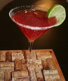 Cactus pear Margarita.The delicate flavor of cactus pear is a pleasant addition to the original margarita recipe..