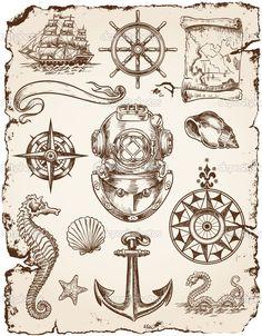depositphotos_27056739-Nautical-Vector-Illustration-Set.jpg 799×1,023 pixels