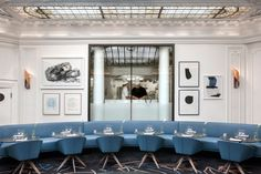 The Refurbished Hôtel Vernet in Paris by François Champsaur | Yatzer Dining Furniture, Luxury Furniture, Edm, Top Interior Designers, Dining Room Design, Dining Rooms, Contemporary Interior Design, Unique Home Decor, Best Interior