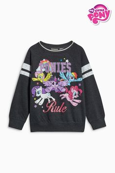 Buy Charcoal My Little Pony Crew Neck Top (3-16yrs) from the Next UK online shop