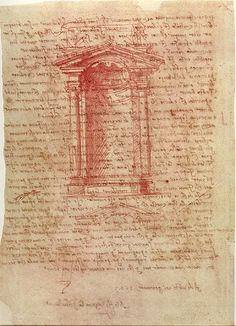 Michelangelo, Sheet with Drawing for a Wall Tabernacle