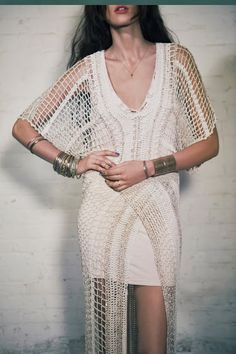 Outstanding Crochet: In the Crosshairs Maxi Dress from Free People.