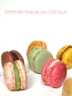 different ganache for macarons