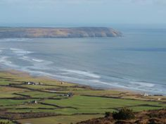Porth Neigwl (Hell's Mouth) on the Llyn Peninsula ~ photo taken March 1st from Mynydd Rhiw ~ a glorious day to celebrate St David's day ~ The patron saint of Wales