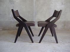 Online veilinghuis Catawiki: Kavel met 2 vintage stoeltjes