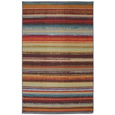 @Overstock - Indoor/Outdoor Metro Stripe Rug (5' x 8') - These rugs are made from a durable nylon that resists staining, fading and mildew.  The unique marine backing allows water to pass through the rug as opposed to absorbing it.    http://www.overstock.com/Home-Garden/Indoor-Outdoor-Metro-Stripe-Rug-5-x-8/7894206/product.html?CID=214117  $64.79