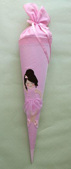 Schultüten - Schultüte Ballerina 70 cm - ein Designerstück von TanteTuete bei DaWanda