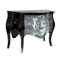 Casa Padrino Baroque Chest Marilyn Monroe 120cm - furniture cabinet sideboard: Amazon.co.uk: Kitchen & Home
