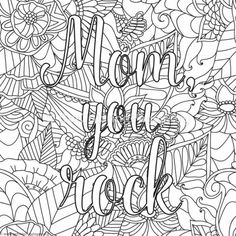 Free Download Mom You Rock Coloring Pages #coloring #coloringbook # Coloringpages #mothersday