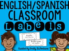 This file includes 44 labels in English with Spanish translations. The labels are helpful for newcomers, English Language Learners (ELLs)/English as a Second Language (ESL) students, and students in dual-language classrooms. The labels are organized in ABC-order for your convenience.