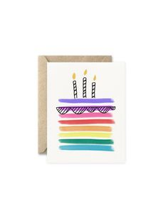 Excited to share the latest addition to my shop: Birthday Cake Card Watercolor Birthday Cards, Birthday Card Drawing, Birthday Cake Card, Homemade Birthday Cards, Birthday Painting, Watercolor Cards, Homemade Cards, Birthday Crafts, Happy Birthday Signs