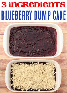 How to Make Blueberry Dump Cake!  This tasty dessert is the perfect summer treat, and all around easy to make, too! Dump Cake Recipes, Easy Cookie Recipes, Fudge Recipes, Frosting Recipes, Dessert Recipes, Easy Recipes, Popular Recipes, Sweet Recipes, Cooking Recipes