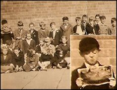In the 1952 picture, a young Paul is seen to be engrossed in a comic as he is surrounded by classmates from Liverpool's Joseph Williams School.