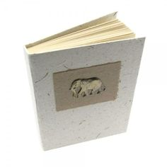 A quirky, ethical gift for yourself or a friend, this notebook is made from elephant dung. Handmade Journals, Fair Trade, Elephant, Artisan, Notebook, Paper, Handmade Gifts, Leather, Medium