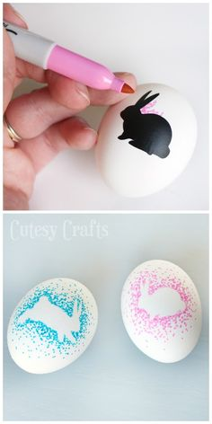 DIY Easter Egg Decorating Idea // Easter Bunny Easter Eggs