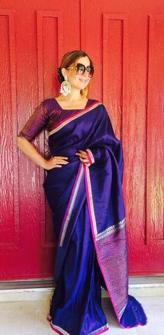 A statement in itself! Traditional Sarees, Traditional Fashion, India Fashion, Ethnic Fashion, Indian Attire, Indian Wear, Indian Dresses, Indian Outfits, Indian Couture