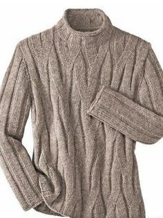 An extremely cool Pullover. Cable Sweater, Men Sweater, Cocoon Cardigan, Handgestrickte Pullover, Mens Turtleneck, Mens Fashion Sweaters, Cable Knitting, Sweater Weather, Knitwear
