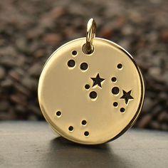 NEUE - Schütze natürliche Bronze Sternzeichen Sternbild Disc - Hinzufügen einer Kette Option verfügbar - Versicherung inbegriffen