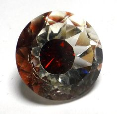 Garnet Quartz Fused Loose Gemstone Rare Deep Burgundy by saxdsign