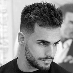 Mens Spiky Short Wavy Hairstyle Ideas