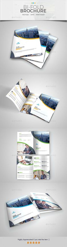 Corporate Bifold Brochure Template 01