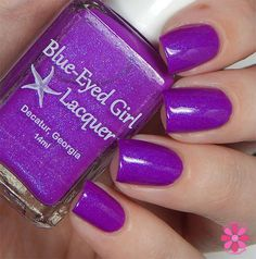 Blue Eyed Girl Lacquer Siren's Summer Vacation. now faded to A bright pink