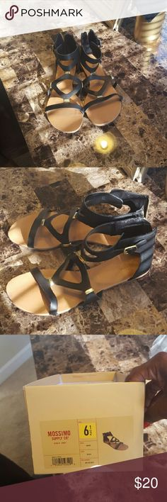Black Strappy Sandals In great condition. Only worn a handful of times! I still have the shoebox they came in! Shoes Sandals