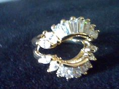 2.00CTW  BAGUETTE & MARQUISE LCS DIAMOND  WEDDING RING GUARD ENHANCER SZ 9 #EXCEPTIONALBUY #SolitairewithAccents